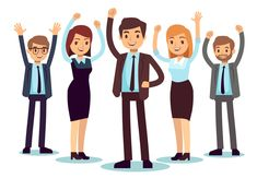 Happy office people successful business man and vector image on VectorStock Successful People, Successful Business, Business Professional, How To Perform Cpr, Office Movers, Office People, Woman Standing, Student Work, Life Skills
