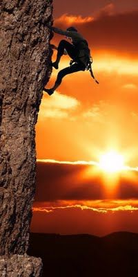 Photo about Girl climbing on the rock on sunset background. Image of people, exotic, landscape - 1954207 Sport Climbing, Rock Climbing, Climbing Wall, Mountain Climbing, Beach Scenery, Winter Scenery, Sunset Background, Take The Stairs, Adventure Activities
