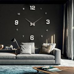 Find More Wall Clocks Information about New Unique Fashion Large 3D DIY Wall Clock Gold Shine Mirror Stickers Design Home Decor Arts Hours Luxury Gifts Big Size,High Quality decor and gifts,China gift definition Suppliers, Cheap gift process from ChowDon Household Mall on Aliexpress.com