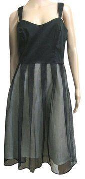 #jane #hamill Green Lined #Black #Dress #layered #mesh #sleeveless #8 #womensfashion #buyonline #cocktail #littleblackdress