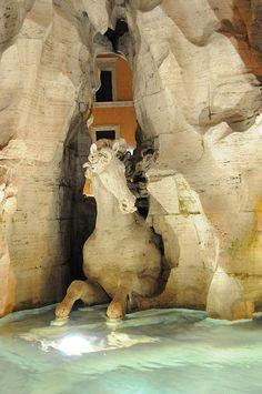Fontana dei Quattro Fiumi, Roma by Gian Lorenzo Bernini - Bernini Sculpture, Sculpture Art, Piazza Navona, Gian Lorenzo Bernini, Italian Sculptors, Italy Tours, Italian Artist, Art And Architecture, Cool Art