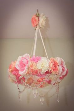 Cute Chandelier for the baby's room!