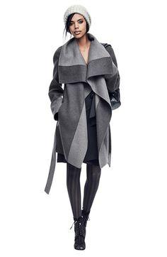 Diane von Furstenberg 'Mackenzie' Two-Tone Cozy Coat | Nordstrom