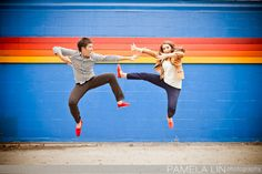 ninja engagement picture! and their toms match :)