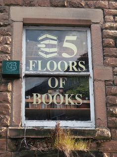 5 FLOORS OF BOOKS! Heaven! I'd like this to be true of my next house :-) ... ... © Marian Byrne, photographer. Scrivener's Bookshop, Buxton, Derbyshire, ENGLAND. Give credit where due. Pin from the primary source.  If you already have this pin, it only takes a second to edit the Description & Link by cut & paste.