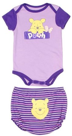 Amazon.com: Disney Newborn Baby Girls Winnie the Pooh Creeper Diaper Cover Set: Clothing