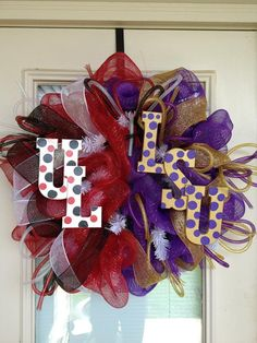 LSU Tigers / UL Ragin Cajuns House United by SouthernWreathDesign,