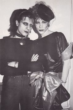 """""""newromanticmovement:  Mick Karn and Angie Bowie   """""""