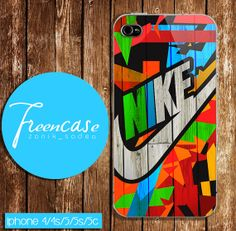 nike colorful on wood case for iphone 4 caseiphone  by FreenCase, $15.55