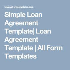 Loan Document  Loan Agreement Form