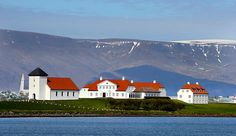 Bessastaðir, official residence of the President of Iceland. Greenland Iceland, Iceland Travel, Iceland Island, Island Nations, Travel Around, Places To Travel, Places Ive Been, Greece, Beautiful Places