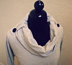 Trash To Couture: DIY convertible cowl neck.