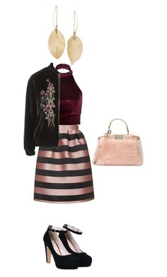 """""""what you wanna"""" by rukiye-bagci ❤ liked on Polyvore featuring Topshop, River Island, LULUS and Fendi"""