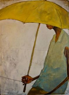 Olivia Pendergast (born in Florida; based in Seattle, WA) aka Holly Mae (Holly is her initial name). Love Painting, Figure Painting, Painting & Drawing, Umbrella Art, Yellow Umbrella, Illustration Art, Illustrations, Oil Painters, Mellow Yellow