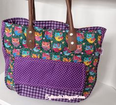 Bolsa coruja lilás