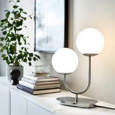 Lamps & Light Fixtures - IKEA Inspiration Ikea, Ikea Family, Affordable Modern Furniture, I Love Lamp, Led Lampe, Room Lights, Chrome Plating, Desk Lamp, Table Lamps