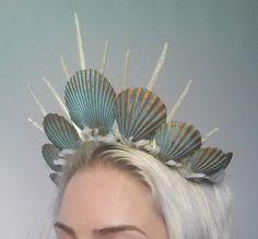 Items similar to mermaid crown tiara headdress turquoise on Etsy mermaid crown tiara headdress turquoise by Fairytas on Etsy Ear Cuffs, Quinceanera, Bride Tiara, Mermaid Crown, Bride Hair Accessories, Bridal Crown, Tiaras And Crowns, Headdress, Mermaids