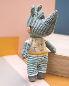 Héctor Rhinoceros crochet pattern - Will be in the next book of Pica Pau (Animal Friends)