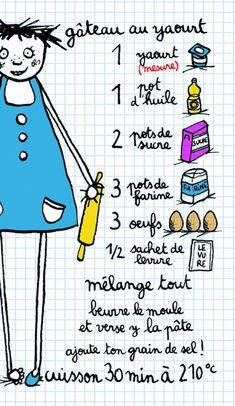 MINI-RECETTE+gâteau+au+yaourt+de+La+boutique+de+Filf+sur+DaWanda.com