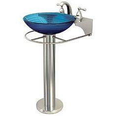 Kacy Porcelain Pedestal Sink Pedestal, Pedestal sink and Sinks