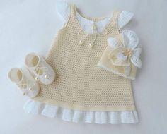 bebek örgü elbise