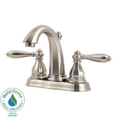 Pfister Portola 4 in. 2-Handle High-Arc Bathroom Faucet in Brushed Nickel-GT48-RP0K at The Home Depot