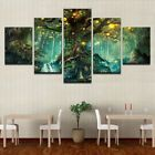 Fantasy Big Tree Of Life 5 Pieces Canvas Wall Art Poster Print Home Decor Tree Canvas, Flower Canvas, Canvas Wall Art, Living Room Canvas Prints, Canvas Art Prints, Wall Art Pictures, Pictures To Paint, Modern Oil Painting, Big Tree