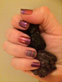 Fizzy Grape, Berry Blend & Stitched Away LOVE this combo!!!  Jamberry Math says Buy 3 Get 1 FREE   HollyLaine.JamberryNails.net