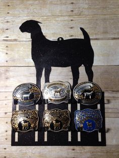 Belt Buckle Display Rack for Livestock and by J4MetalsAndMore