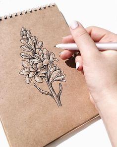 Drawing Flowers Black And White Botanical Illustration - RetroModa White Pen, Ink Pen Drawings, Toned Paper, Nature Drawing, Paper Drawing, Botanical Drawings, Pen Art, Beautiful Drawings, Art Plastique