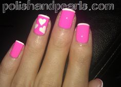 Simple, Easy, Cute Valentine Nail Art | Polish and PearlsPolish and Pearls