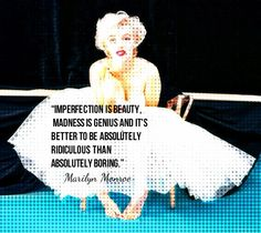 Marylin Monroe Quote About Imperfection