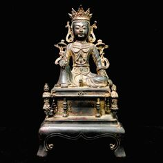 Excited to share this item from my #etsy shop: Asia Chinese Bronze Buddha Statue Kwan Yin On Altar Collectible Buddhism Art Decoration