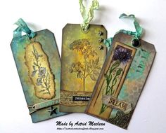 a blog showing almost daily paper craft and mixed media projects with a vintage style