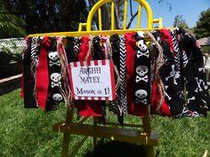 Pirate Theme Birthday/ highchair banner/ photo by apetitesoiree, $32.00