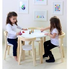 This modern Children's Table & 2 Chairs Set is built to last as its made from Solid Birch Wood. This boston kids table and chairs sets' contemporary & simplistic design will look great in any part of your home. Pub Table And Chairs, Blue Dining Room Chairs, Patio Lounge Chairs, Table And Chair Sets, White Chairs, Play Wood, Cheap Chairs, Buy Chair, Kid Table