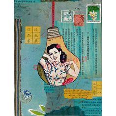 "Toile imprimée"" Capsule Asia"" Les Petites Kasko"" 65x90cm.http://www.lespetiteskasko.com/"