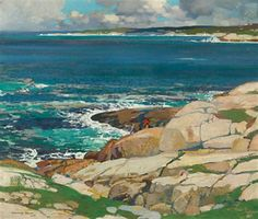 """""""After the Storm, Peggy's Cove, Nova Scotia,"""" Stanley Royle, 1932, oil on canvas, 21.7 x 25.6"""", private collection."""
