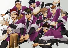 There's nothing to hate about this picture. Haikyuu Ushijima, Ushijima Wakatoshi, Kageyama, Oikawa, Haikyuu Fanart, Haikyuu Anime, Anime Manga, Anime Guys, Baby Crows
