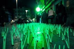 Outdoor Light Interventions by Luzinterruptus Illuminate the Streets of Madrid