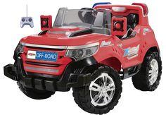 TODOTERRENO INFANTIL DE BATERÍA 6V ROJO CON MANDO RC. SCH927, IndalChess.com Tienda de juguetes online y juegos de jardin