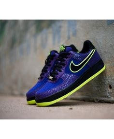 separation shoes 351ac 6f967 Nike Air Force 1 Low Court Purple Black Volt Trainer Sale UK,Fashion and  trend