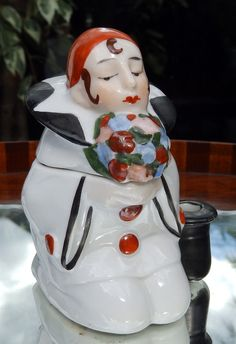 Ceramic Inkstand , Pierrot
