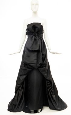Christian Dior by Gianfranco Ferré Black Silk Strapless Gown, Circa: For Sale at Gianfranco Ferre, Strapless Dress Formal, Formal Dresses, Black Silk, Timeless Fashion, 1990s, Christian Dior, Corset, Evening Dresses