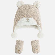 Completo cappello e manopole bambino