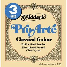 D'Addario Pro•Arte Classic Nylon Guitar Stings -- I only recently started using these for my first nylon string guitar. I love the sound. I can play my songs again!