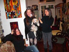 Stacy Engman in her Mercura Crystal Sunglasses at Mercura NYC with Sophie & Rachel & Merrilee