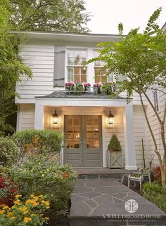Exterior Paint Colors - You want a fresh new look for exterior of your home? Get inspired for your next exterior painting project with our color gallery. All About Best Home Exterior Paint Color Ideas Exterior Paint Colors For House, Paint Colors For Home, Exterior Shutter Colors, Grey Exterior, Exterior Design, White Exterior Paint, Farmhouse Renovation, White Houses, House Painting