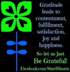 Gratitude quote via www.Facebook.com/SheriShares