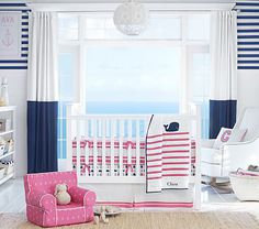 Hamptons Whale  Nursery Bedding Set #pbkids
